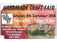 Saturday 8th September 2018 - TCF Craft Fair, Twickenham, Middlesex.