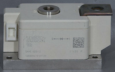 New Semikron Skke 60012 Semipack 4 Rectifier Diode Power Module 1200v 597a