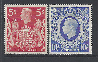 Great Britain Stamps 1939-1942 5sh & 10sh KGVI MNH £65