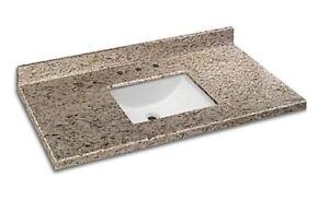 BRAND NEW - Glacier Bay Granite VANITY TOP w trough bowl 49x22