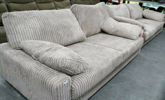 Dfs holden chunky jumbo cord 4 seater sofa new with tags for Cord sofa 70er