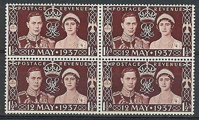 Great Britain 1937 Sc# 234 Coronation George VI Elizabeth GB block 4 MNH