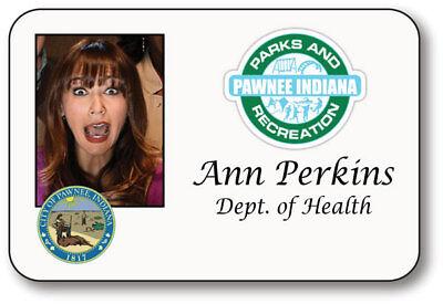 ANN PERKINS PARKS & RECREATION NAME BADGE HALLOWEEN PROP MAGNET BACK - Parks Recreation Halloween Costumes