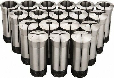 Value Collection 18 Piece 116 To 1-18 Inch Capacity 5c Round Collet Set 0...