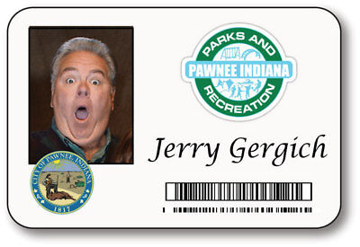 JERRY GERGICH PARKS & RECREATION NAME BADGE HALLOWEEN PROP PIN BACK - Parks Recreation Halloween Costumes