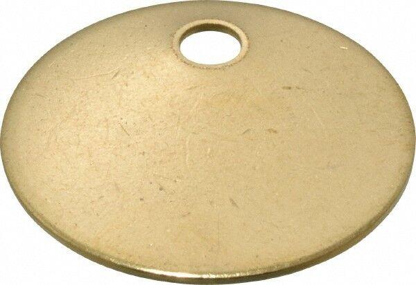 C.H. Hanson 1-1/4 Inch Diameter, Round, Brass Blank Metal Tag Blank, 50 Pieces