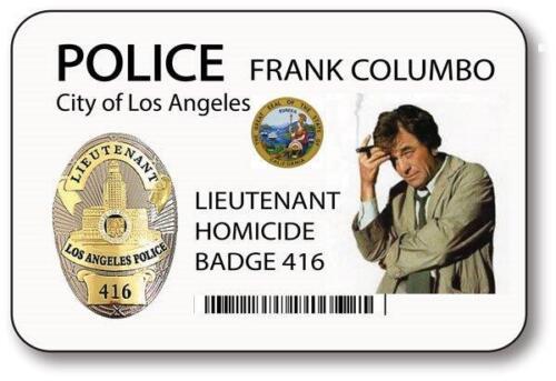 LIEUTENANT FRANK COLUMBO POLICE BADGE PROP HALLOWEEN COSTUME MAGNET FASTENER