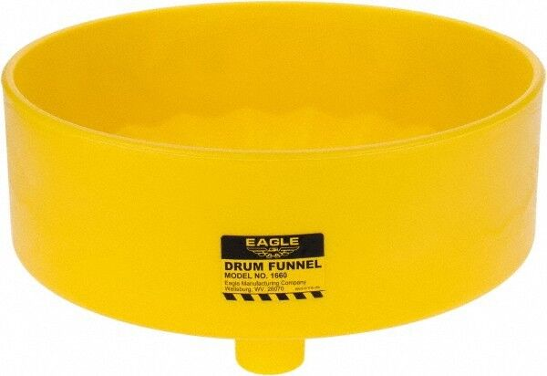 "Eagle 7"" High x 18"" Diam, Polyethylene, Drum Funnel 30 to 55 Gal Drum/Pail Ca..."