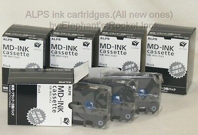 ALPS ink Black 3 cartridges MDC-FLK3:5packs(MDC-FLCK 15pcs)new:Elephant