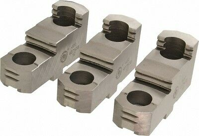 Bison Lathe Chuck Hard Top Jaw For Scroll Chuck 8 In 3-jaw 3 Piece Set 7-883-308