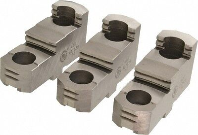 Bison Lathe Chuck Hard Top Jaw For Scroll 10 In 3-jaw 3 Piece Set 7-883-310