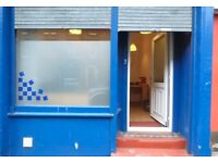 Meadowbank, Edinburgh, EH7: Flexible commercial space, 2 floors, large shop window. Great location.