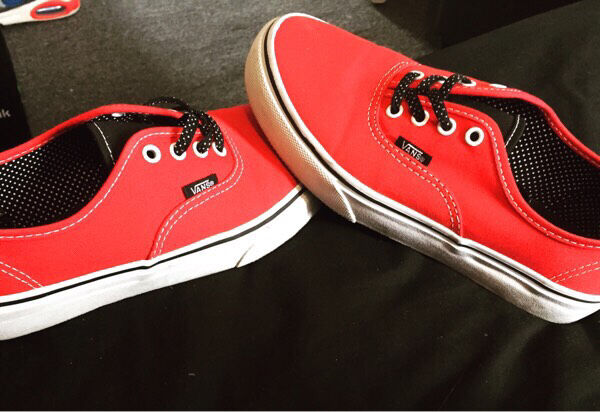 Red Vans Trainers