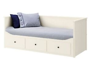 Daybed with 3 drawers: pulls out to King Size: + 2 mattresses