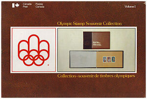 CANADA POST OLYMPIC STAMP SOUVENIR COLLECTION VOLUME 1 & 2 (1976