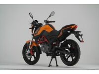 NEW KSR GRS 125CC MOTORCYCLE, OWN FOR £11.17 PER WEEK