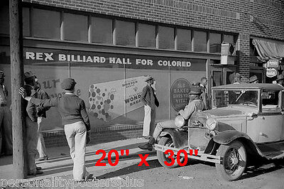 "Shooting Pool~Pool~Pool Hall~Black Int~Billiards~Poster~20"" x 30"" Photo"