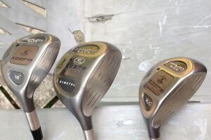 golf clubs COBRA GRAVITY BACK DRIVER, 3 & 5 METALS AND KC IRONS