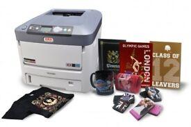 Oki 711wt White Toner Printer T shirts Gifts Full Colour plus White Magic Touch Space Control Used