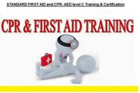 STANDARD FIRST AID and CPR-AED level C--October first week