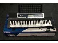 YAMAHA YPT-210 61 key electric keyboard (with box, sustain pedal & removable music stand)