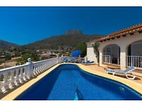 Alba 6. Villa for rent with private pool, in Calpe, Costa Blanca, Spain