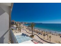 Frentemar II. Comfortable apartment on the third floor with communal pool in Calpe in Spain