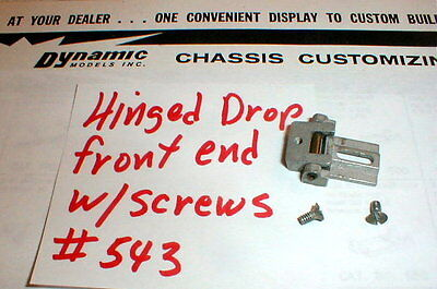 Chassis Hinged Drop Front End Kit Dynamic 1960s Vintage # 543 Slot Car Used