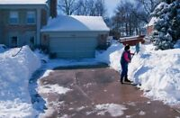 Snow shoveling and salting