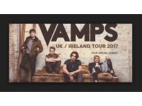 The Vamps 2 x tickets face value 02 Arena