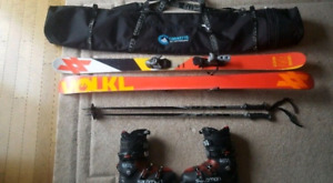 155cm Twin Tip Skis for park and all mountain