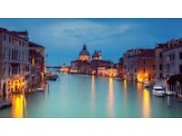 Romantic Mini Break for 2 to Venice, Italy! with return flights from Bristol all included!