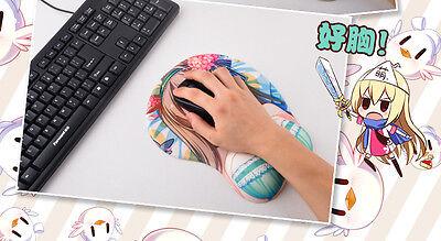 Fate Stay Night Fate Zero Rin Tohsaka Anime Girl 3D Mouse Pad Mat Wrist Rest