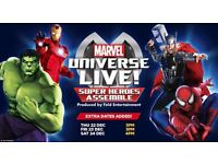 SOLD 4 x Tickets to Marvel Universe LIVE! Birmingham 29th Dec 7pm, Great Seats