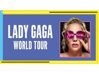 2 Lady Gaga tickets - 02 London 11th October - section 420 row Q