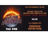 Black Sabbath- Final Ever Concert- Saturday 4th February 2017