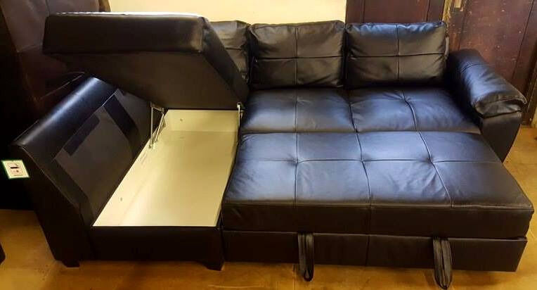 Groovy Brand New Fernando Leather Left Hand Corner Sofa Bed Caraccident5 Cool Chair Designs And Ideas Caraccident5Info