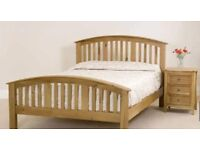 Oak Bedroom Furniture Set with Double Bed