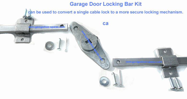 Garage Door Lock Bar Kit To Fit Doors Upto 10 Wide