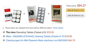 Miele Descaling &cleaning Tablets n milk pipe cleaning agent