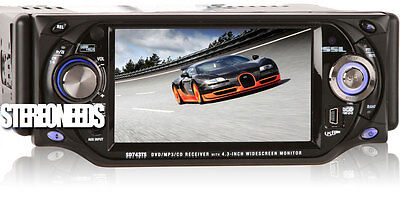 "Buy SoundStorm In-dash CD Players - Soundstorm In-dash Car Dvd/mp3/cd/am/fm Player 4.3"" Touchscreen Monitor Usb"