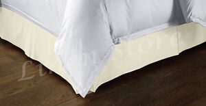 TAILORED BED SKIRT, PLEATED DUST RUFFLE, 14