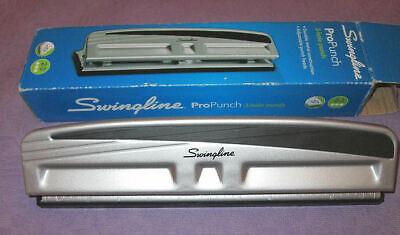 Swingline Propunch 2 - 3 Hole Metal Industrial Heavy Duty Adjustable Paper Punch