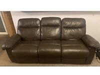 X2 Leather sofas (recliners)