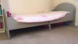 Ikea Trogen extendable bed and Vyssa Snosa mattress
