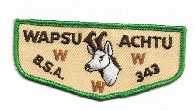 oa boy scout WAPSU ACHTU lodge 343 first flap  mint