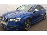 Blue AUDI S3 SALOON 2.0 T FSI Petrol QUATTRO FROM £119 PER WEEK!