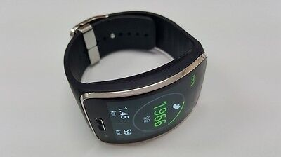 Genuine Samsung Galaxy gear S SM-R750 Curved AMOLED Smart Watch Black Used