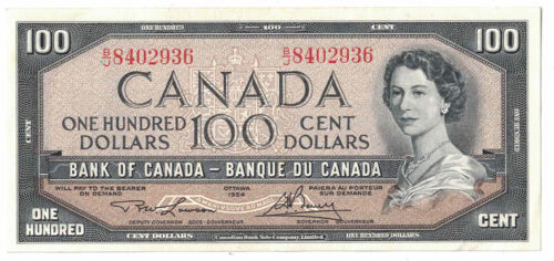 Bank of Canada - 1954 $100.00 Banknote (P-82c) - Nice
