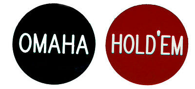 """OMAHA / HOLD'EM  2"""" button for Omaha Hold'Em Tournaments Games FREE SHIPPING*"""